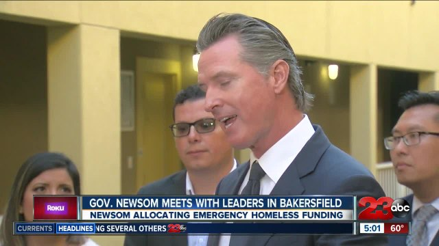 Gov. Newsom meets with leaders in Bakersfield to discuss homeless crisis