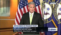 """Rep. McCarthy Democrats' Political, Partisan Impeachment A """"Defeat To The Constitution"""""""
