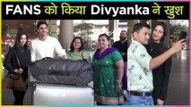 Divyanka Tripathi & Vivek Dahiya SWEET GESTURE For Fans At Mumbai Airport