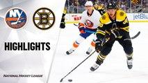 NHL Highlights | Islanders @ Bruins 12/19/19