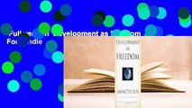 Full version  Development as Freedom  For Kindle