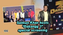 "Salman Khan hosts ""Dabangg 3"" special screening"