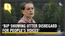 BJP Showing Utter Disregard for People's Voice: Sonia Gandhi