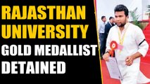Rajasthan University Gold medallist detained over black arm band protest | OneInida News