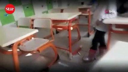 Skandal görüntüler!; Öğretmen engelli öğrenciye böyle şiddet uyguladı