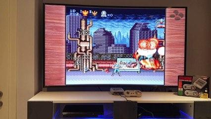Contra III sur Super Nintendo Mini (gameplay)