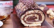 Succombez au charme exquis de notre bûche au ferrero rocher et au Nutella!