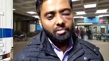 He lost his eye! He was studying in the Jamia library when the police entered