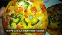 Tasty pizza buns homemade-Tawa Pizza Without Yeast - QChicken Tikka Pizza Without Oven - uick and Easy Pizza Recipe  easy after school snack recipes Mini Pizza on Tawa - Without Oven Vegetable Mini Pizza for kids