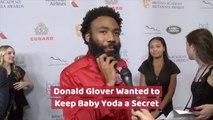 Donald Glover Gives Baby Yoda Advice