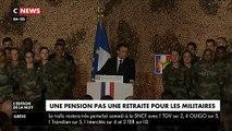 """A Abidjan, Emmanuel Macron veut rassurer les militaires Français: """"Quand on est militaire on ne touche pas la retraite, on a une pension. C'est différent"""""""