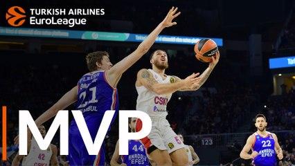 Round 15 MVP: Mike James, CSKA Moscow