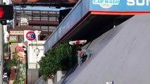 Ce Skateur saute plusieurs fois d'un toit pour une figure en Skateboard !