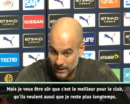 "Man City - Guardiola : ""J'aimerais rester le plus longtemps possible"""