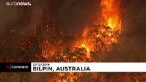Helicopters battle raging bushfires in Australia