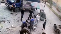 Garagistes du dimanche : un pneu explose dans les airs !