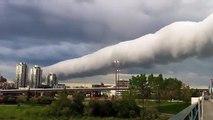 Ce nuage est incroyable : Roll Cloud au dessus de Calgary