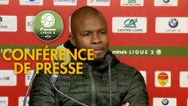 Conférence de presse US Orléans - FC Sochaux-Montbéliard (1-0) : Didier OLLE-NICOLLE (USO) - Omar DAF (FCSM) - 2019/2020