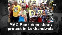 PMC Bank depositors protest in Lokhandwala