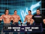 WWE Summerslam Mod Matches John Morrison & Miz vs CM Punk & Tommy Dreamer