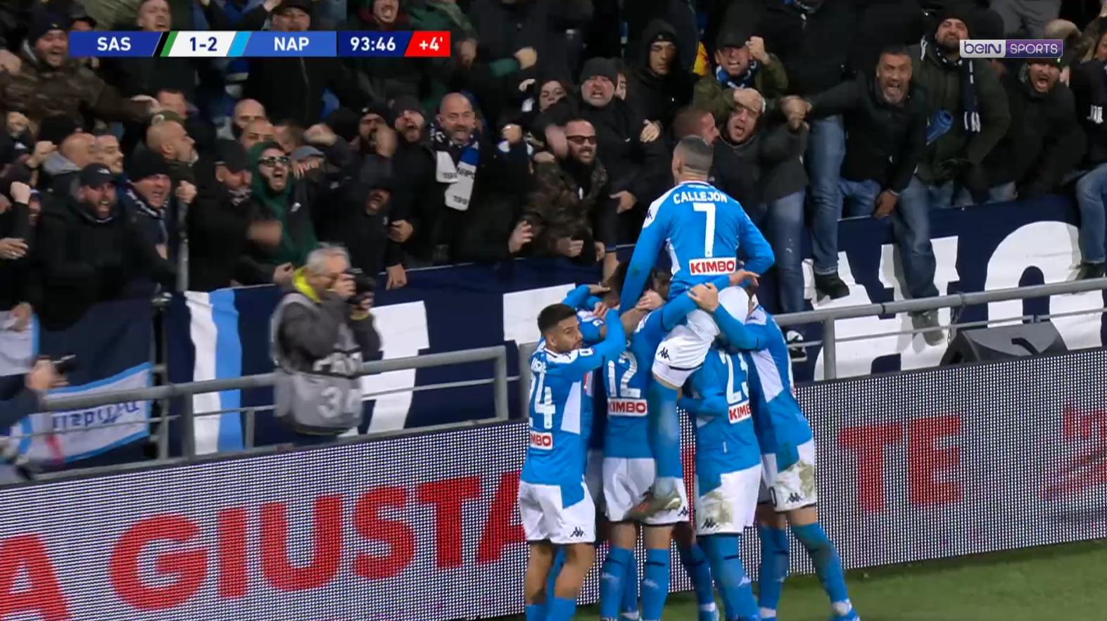 Serie A - Naples renverse Sassuolo à la dernière seconde !