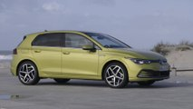 The new Volkswagen Golf 8 Design in Lime Yellow