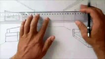Draw a room in one point perspective  l  Art School  l