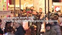 Noël: ultimes courses des Parisiens malgré la grève