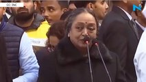 Today there is fear in the country: Former LS Speaker Meira Kumar at Rajghat protest