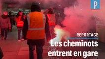 Manifestation surprise contre la réforme des retraites gare de Lyon