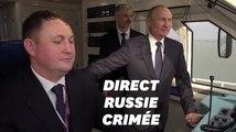 Vladimir Poutine inaugure le train qui relie la Russie à la Crimée