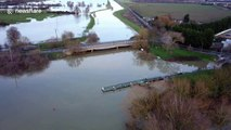 Christmas travel plans disrupted by flooding in England's Cambridgeshire