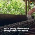 Vietnamese Village Turn Grass Into Straws