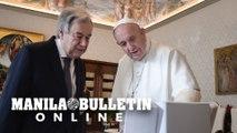 Pope Francis and UN's Antonio Guterres condemn religious persecution