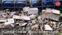 双溪南眉河装垃圾捕手 ,两周拦截约100公斤垃圾