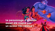 Aladdin  un acteur très célèbre a inspiré le visage du héros de Disney
