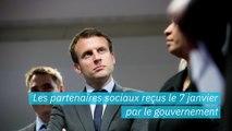 Grève des retraites: les partenaires sociaux reçus le 7 janvier par le Emmanuel Macron