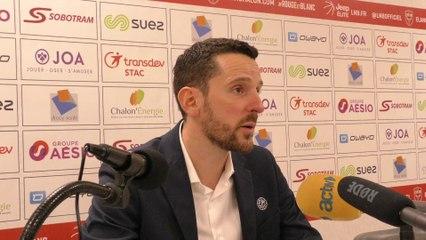 2019/20 Réaction de Maxime Boire après Elan Chalon - Chorale (85-84, JE J15)