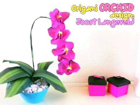 Origami Orchid Flower