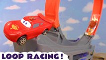 Disney Pixar Cars 3 McQueen Loop Racing Funlings Race vs Hot Wheels Toy Story 4 and Transformers Autobots Family Friendly Full Episode English