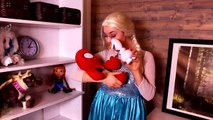Spiderman & Frozen Elsa, fun times and funny situations with their babies