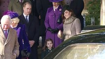 Princess Charlotte curtseys to the Queen