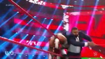 Rey Mysterio retains US title over Seth Rollins by DQ after attack from AOP _ MONDAY NIGHT RAW
