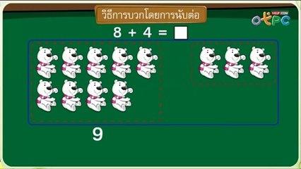 สื่อการเรียนการสอน ทบทวนการบวก และการลบ ป.1 คณิตศาสตร์