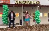 chanteuse russe dans la rue