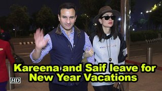 Kareena Kapoor Khan and Saif Ali Khan leave for New Year Vacations