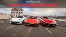 L'Alpine A110 S défie les Porche 718 Cayman S et Toyota GR Supra