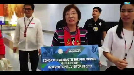 DOT welcomes 8 millionth foreign visitor