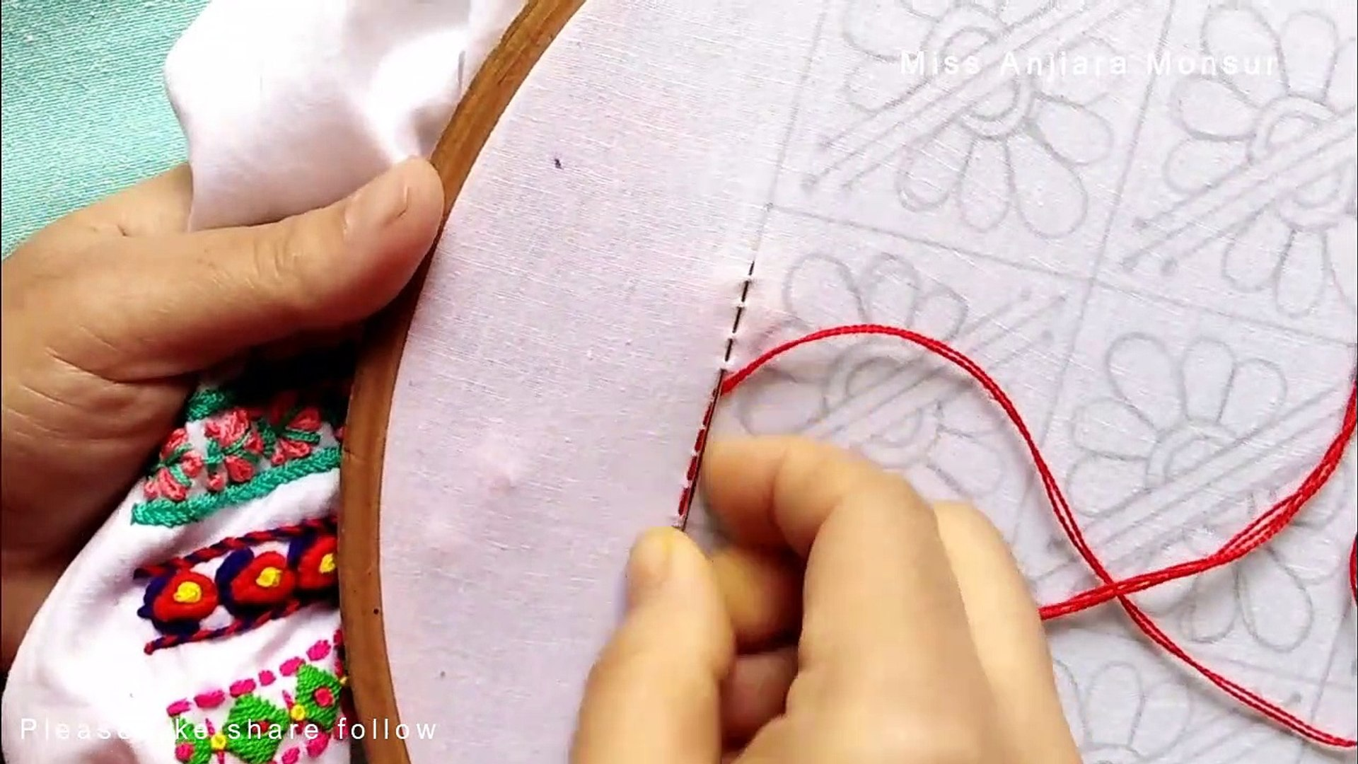 Beautiful Hand Embroidery 2020, Easy and Step by Step Embroidery,التطريز اليدوي الجميل 2020,সুন্দর হ