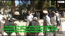 Burkina Faso  Des policiers en colère campent devant le ministère de la sécurité